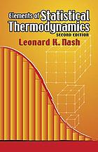 Elements of statistical thermodynamics