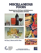 Miscellaneous foods : fourth supplement to the fifth edition of McCance and Widdowson's the composition of foods