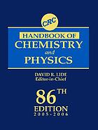 CRC handbook of chemistry and physics 86. 2005/06