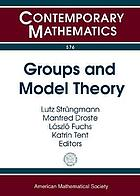 Groups and model theory : a conference in honor of Rüdiger Göbel's 70th birthday, May 30-June 3, 2011, Conference Center