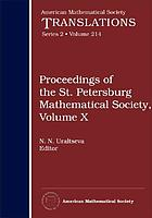 Proceedings of the St. Petersburg Mathematical Society. Volume X