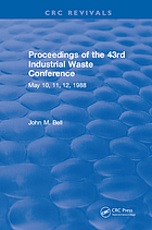 Proceedings of the 43rd Industrial Waste Conference, May 10, 11, 12, 1988, Purdue University, West Lafayette, Indiana.