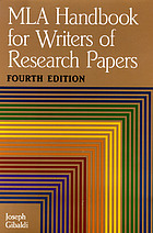 MLA handbook for writers of research papers