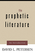 The prophetic literature : an introduction