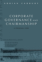 Corporate governance and chairmanship : a personal view