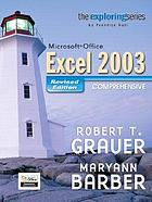 Microsoft Office Excel 2003 : comprehensive
