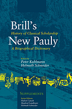Brill's New Pauly : encyclopaedia of the ancient world