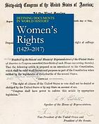Women's rights : (1429-2017)