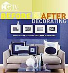 Before & after decorating.