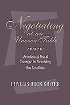 Negotiating at an uneven table : a practical approach to working with difference and diversity