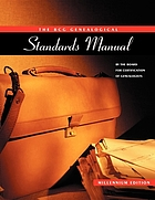 The BCG genealogical standards manual