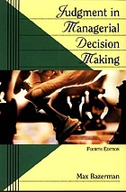 Judgement in managerial decision making