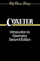 Introduction to geometry, second edition
