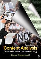Content analysis : an introduction to its methodology