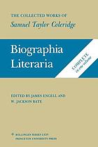 Biographia literaria, or, Biographical sketches of my literary life and opinions