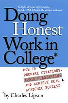 Doing Honest Work in College, by Charles Lipson