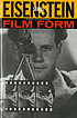Film form essays in film theory, by  Sergei Eisenstein