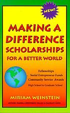 Making a difference scholarships : for a better world