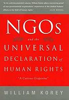 NGOs and the Universal Declaration of Human Rights : a curious grapevine
