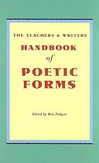 Handbook of Poetic Forms, 2nd ed. Much prettier cover!
