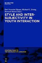 Style and intersubjectivity in youth interaction