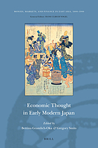 Economic thought in early modern Japan