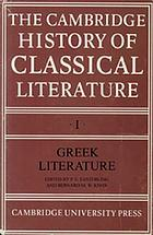 Cambridge history of classical literatue