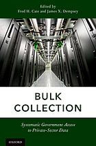 Bulk collection systematic government access to private-sector data