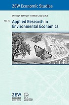 Applied research in environmental economics