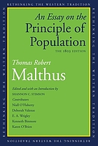 An essay on the principle of population : the 1803 edition