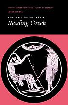 The Teacher's notes to Reading Greek.