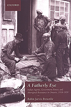 A fatherly eye : Indian agents, government power, and Aboriginal resistance in Ontario, 1918-1939