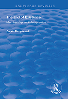 The End of Existence : Membership and Metaphysics.