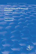 Cultural continuity in advanced economies : Britain and the U.S. versus continental Europe