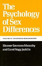 The psychology of sex differences: vol.II/ annotated bibliography