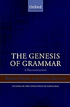The genesis of grammar : a reconstruction