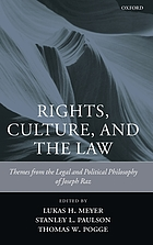 Rights, culture, and the law : themes from the legal and political philosophy of Joseph Raz
