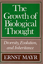 The growth of biological thought : diversity, evolution and inheritance