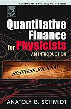 Quantitative finance for physicists : an introduction