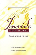Inside film music : composers speak