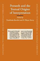 Petrarch and the textual origins of interpretation