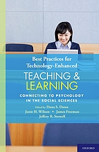 Best practices for technology-enhanced teaching and learning : connecting to psychology and the social sciences