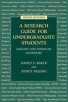A research guide for undergraduate students : English and American literature