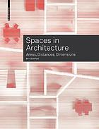 Spaces in architecture : areas, distances, dimensions