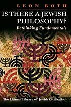 Is There a Jewish Philosophy? : Rethinking Fundamentals.