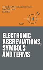 Electronic abbreviations, symbols and terms.