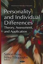 Personality and individual differences : theory, assessment, and application