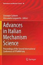 Advances in Italian mechanism science : proceedings of the second International Conference of IFToMM Italy