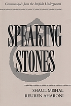 Speaking stones : communiqués from the Intifada underground