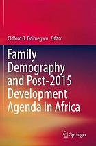 Family demography and post-2015 development agenda in Africa